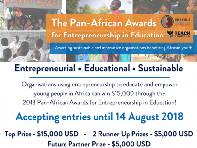 Apply today for the Pan-African Awards for Entrepreneurship in Education