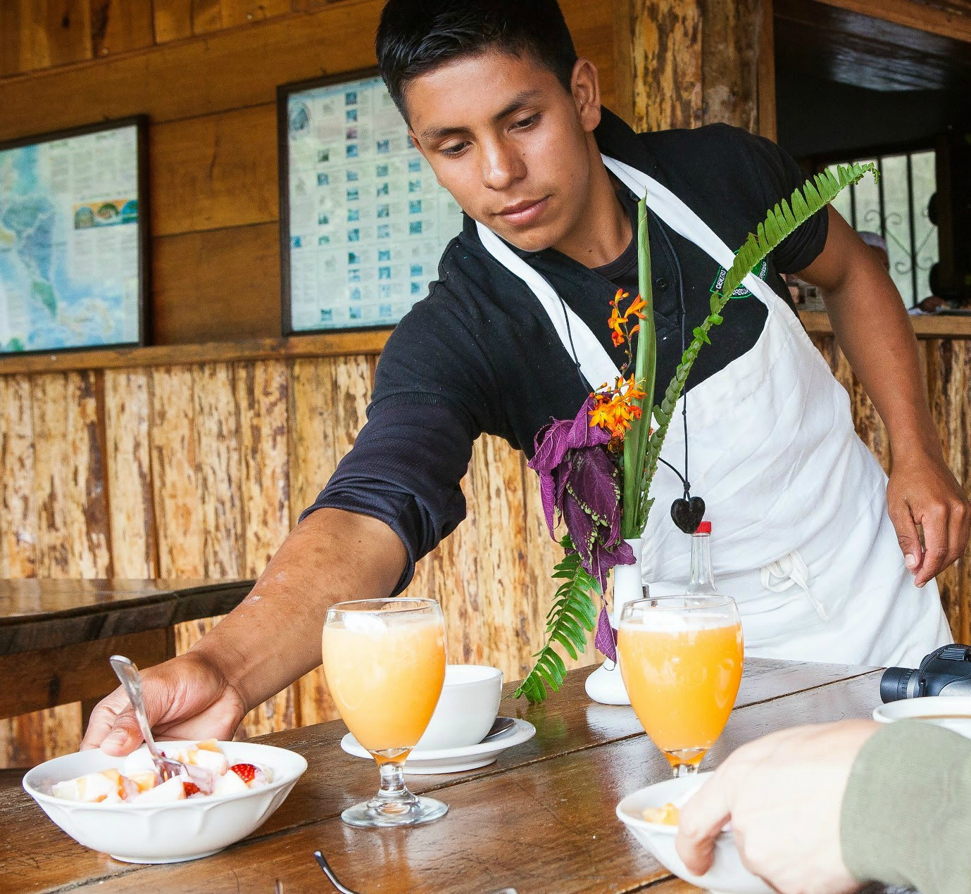 Students run their own restaurant in Paraguay